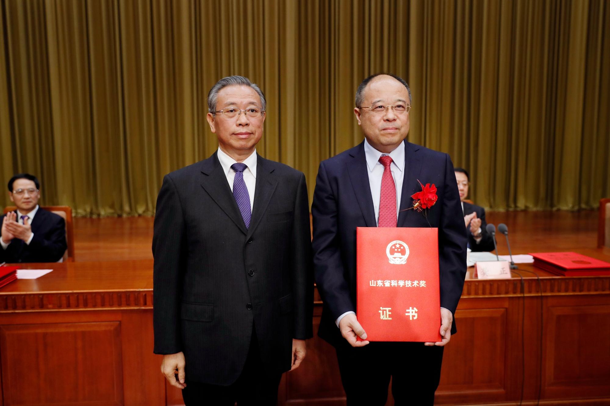 史伟云教授荣获2017年度山东省科学技术最高奖